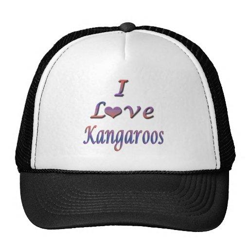 I Heart (Love) Kangaroos Hat