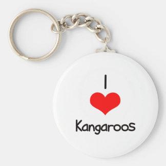 I Heart (Love) Kangaroos Key Chain