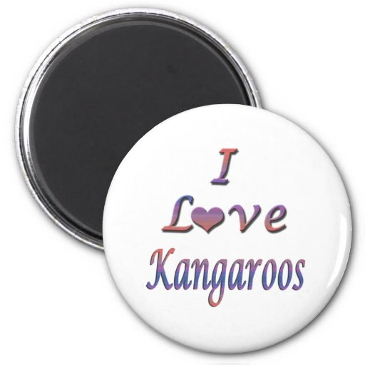 I Heart (Love) Kangaroos Magnets