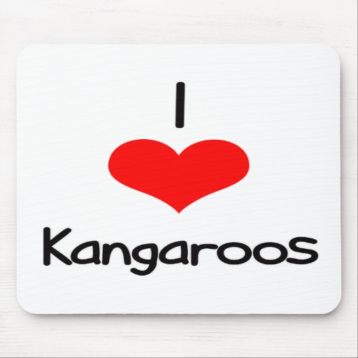 I Heart (Love) Kangaroos Mouse Pads