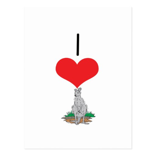 I Heart (Love) Kangaroos Postcard
