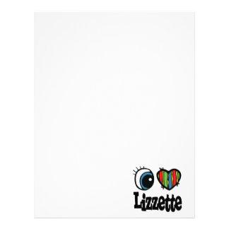 I Heart (Love) Lizzette Custom Letterhead