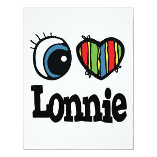 "I Heart (Love) Lonnie 4.25"" X 5.5"" Invitation Card"