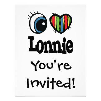 I Heart (Love) Lonnie Personalized Invitations