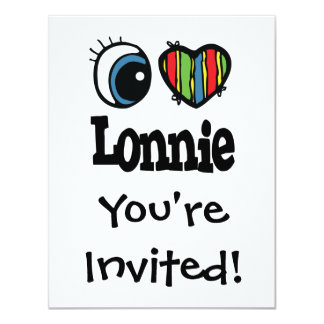I Heart (Love) Lonnie Personalized Invitations