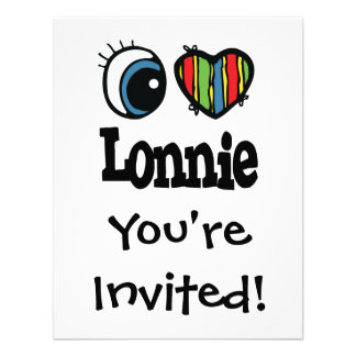 I Heart Love Lonnie Personalized Invitations