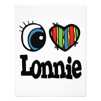 I Heart Love Lonnie Personalized Invite