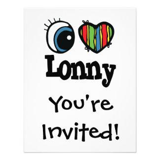 I Heart Love Lonny Personalized Invitations