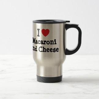 I heart (love) Macaroni and Cheese 15 Oz Stainless Steel Travel Mug