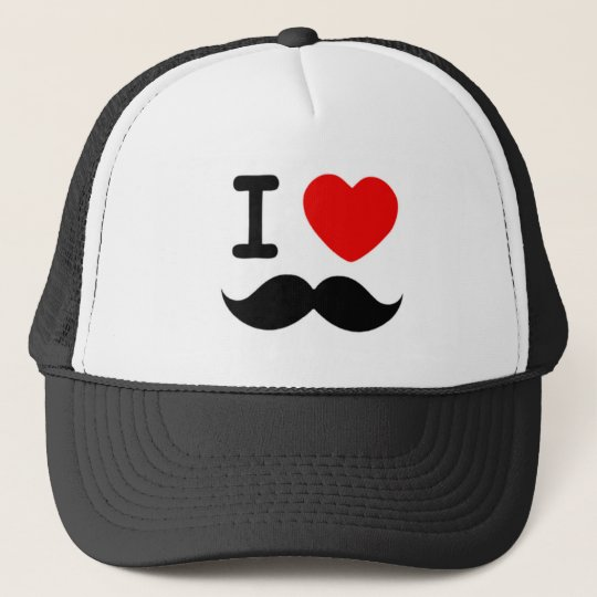 I heart / Love Moustaches / Moustaches Trucker Hat
