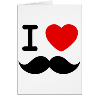 I heart / Love Moustaches / Mustaches Greeting Card