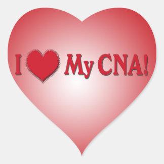 I HEART LOVE MY CNA NURSE HEART STICKER