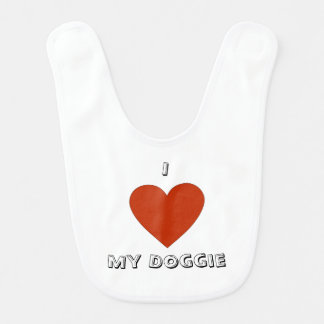 I Heart (Love) My Doggie Bib