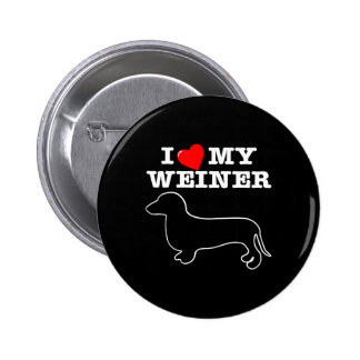 I (Heart) Love My Weiner Dog 2 Inch Round Button