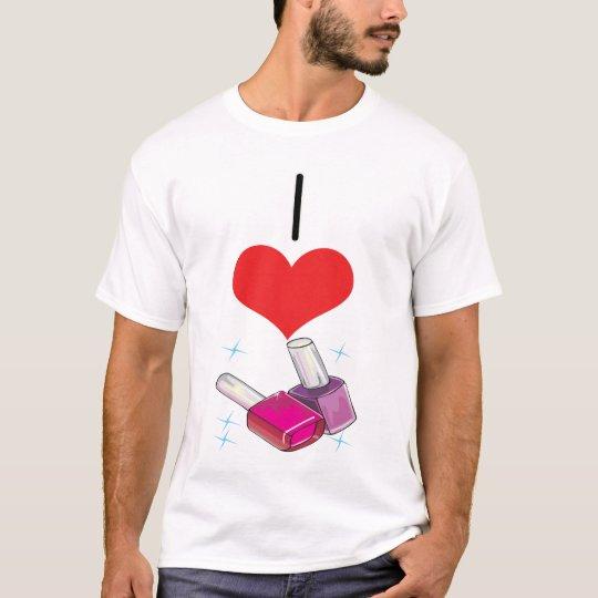 I Heart (Love) Nail Polish T-Shirt