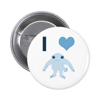I heart (love) Ningen 2 Inch Round Button