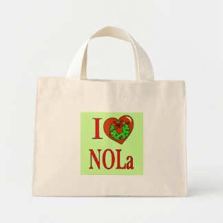 I Heart (Love) NOLA, Mini Tote Bag