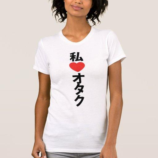 I Heart [Love] Otaku ~ Japanese Geek Tee Shirt