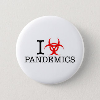 I Heart Love Pandemics 2 Inch Round Button