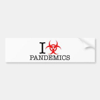 I Heart Love Pandemics Bumper Sticker