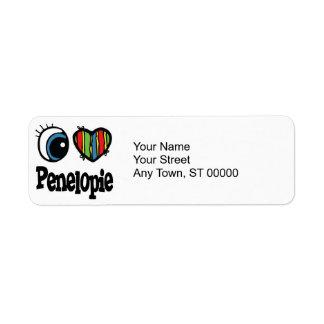 I Heart (Love) Penelopie Return Address Label