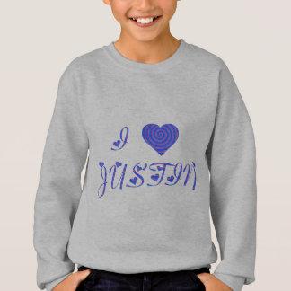 i heart/love [ personalizable ] 80's retro rainbow sweatshirt