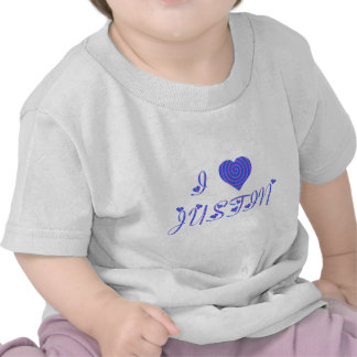 i heart/love [ personalizable ] 80's retro rainbow tee shirts