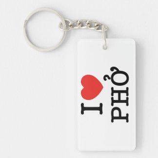 I Heart (Love) Pho Keychain