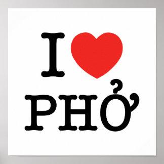 I Heart (Love) Pho Poster