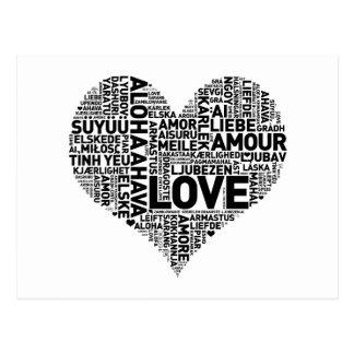 I HEART LOVE POSTCARD