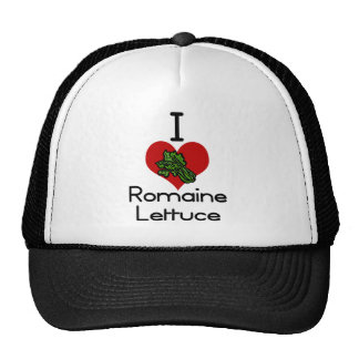 I heart-love romaine lettuce trucker hat