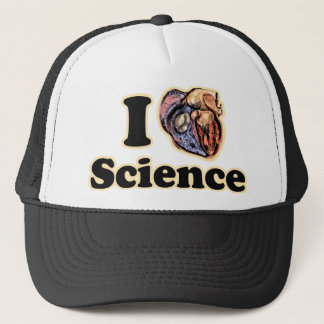 I Heart Love Science Anatomically Correct Geek Trucker Hat