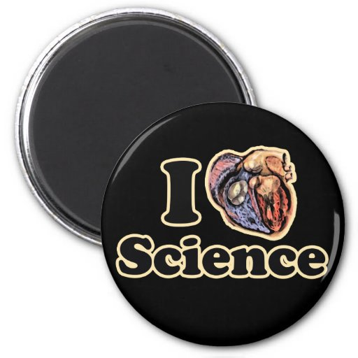 I Heart Love Science Anatomically Correct Magnet