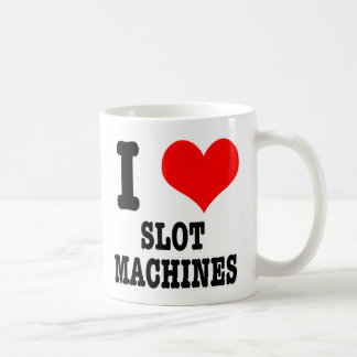 I HEART (LOVE) SLOT MACHINES CLASSIC WHITE COFFEE MUG