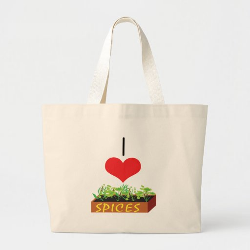I Heart (Love) Spices Tote Bags