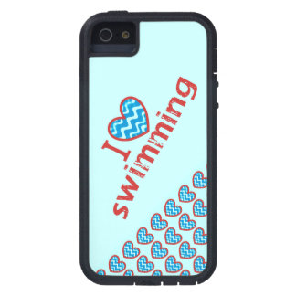 I heart (love) Swimming iPhone 5 Case
