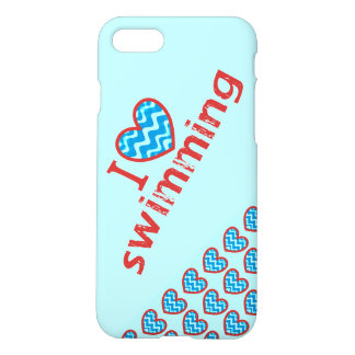 I heart (love) Swimming iPhone 7 Case