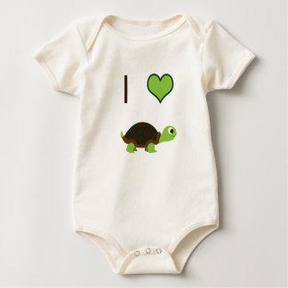 I heart (love) Turtles Baby Bodysuit