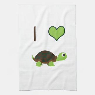 I heart (love) Turtles Kitchen Towel