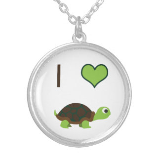 I heart (love) Turtles Necklace