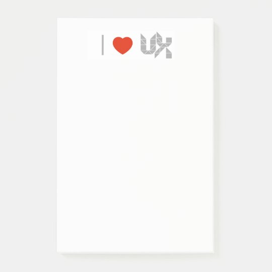 I Heart (Love) UX Post Its Post-it® Notes