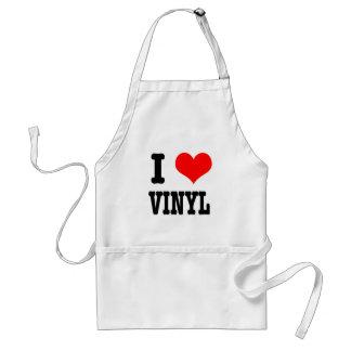 I HEART (LOVE) VINYL STANDARD APRON