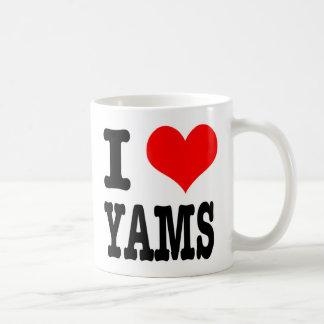 I HEART (LOVE) YAMS CLASSIC WHITE COFFEE MUG