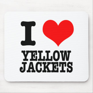 I HEART (LOVE) YELLOW JACKETS MOUSE PAD