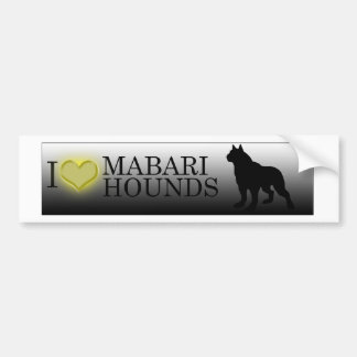 I heart Mabari Hounds Bumper Sticker