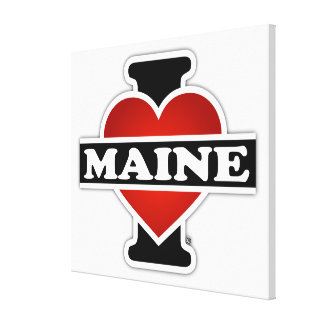 I Heart Maine Stretched Canvas Print