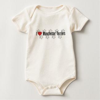 I (heart) Manchester Terriers Baby Bodysuit