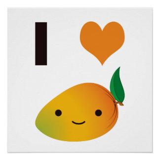 I heart Mango Perfect Poster