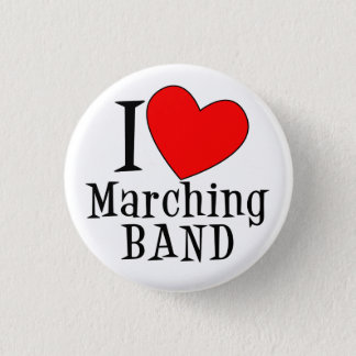 I heart Marching BAND 1 Inch Round Button