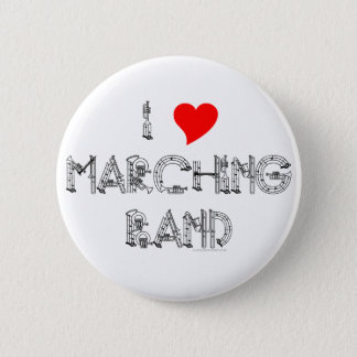 I Heart Marching Band 2 Inch Round Button